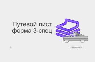Путевой лист специального автомобиля форма 3-спец